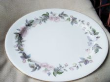 "ELEGANT ROYAL WORCESTER JUNE GARLAND GILDED LARGE OVAL PLATTER 15.25"" X 13"""